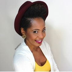 How to rock a hat with natural hair --  20 Natural Hairstyles To 81a97fafc63