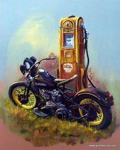 "Blue Chopper Force Harley Davidson Motocycle Poster 24/""x 36/"" HD"
