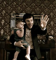"""Aawww this is too .. TOO CUTE <3<3<3 .. Sherlock and Little Rosie .. """"The Final Problem"""" .."""