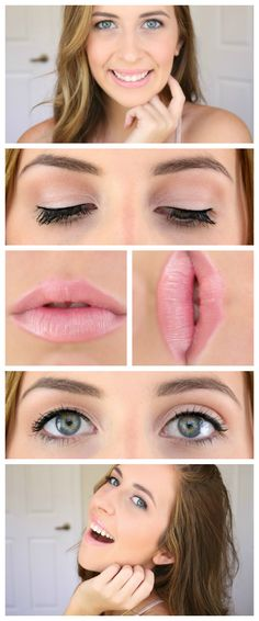 Casual everyday makeup. Great for school and work appropriate. Click the picture for a list of products used and more photos! -Courtney Lundquist-