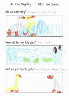 Story logs & maps for Reading Comprehension