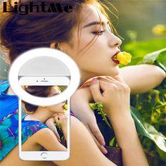 Selfie protableのフラッシュ電話写真照明写真リングライト用スマートフォンiphone samsung白黒ledカメラ