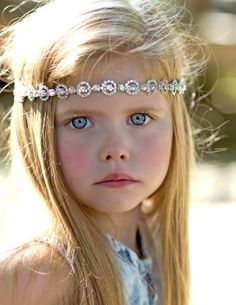 Flower Girl Bridal Headband  Rhinestone  by RavenBoutiqueLLC