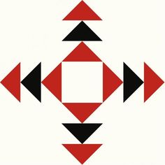 Block 19 in Red, Black & White Christmas Blocks, Christmas Quilt Patterns, Christmas Quilting, White Christmas, Half Square Triangle Quilts, Square Quilt, Barn Quilt Designs, Quilting Designs, Paper Peicing Patterns