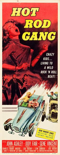 frenchcurious  Affiche du film Hot Rod Gang (1958) -  John Ashley - Gene Vincent - Heritage Auctions
