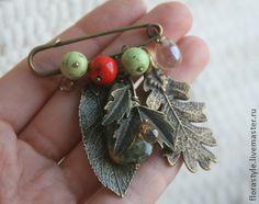 "Handmade brooches.  Fair Masters - handmade Brooch ""Wild berries.""  Handmade."
