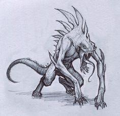 Reptile Creature by StilleNacht.deviantart.com on @deviantART