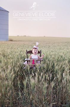 Genevieve's First Birthday Photoshoot   Check me out on Facebook ☺ www.facebook.com/spruceandsparrowphotography  Wheat field