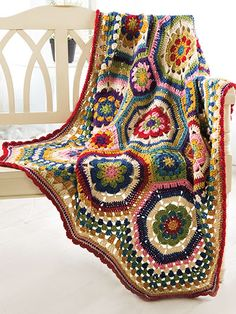 Crochet - Scrap Project Patterns - Afghan Patterns - Octie Throw