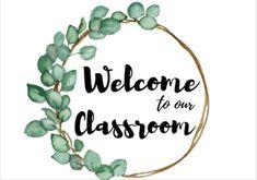 Classroom Welcome, Classroom Board, Classroom Labels, Classroom Signs, Classroom Setup, Classroom Displays, Future Classroom, School Classroom, Bulletin Boards