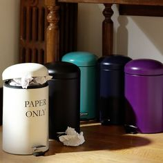 Kickstand Trash Can | PBteen    For under/next to desk. Either white, purple, or pool.