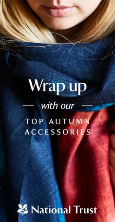 Wrap up warm with our autumn accessories, designed exclusively for the National Trust. The warm and rich colours of our scarves were inspired by misty moors in landscapes such a Sussex Downs and Dunwich Heath. Explore natural prints within our collection of wool blend and cotton scarves, alongside soft leather and printed bags here: http://nattru.st/570am