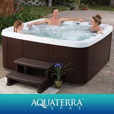 Aquaterra Spas Montecito Spa Multicolor LED Light Adjustable Waterfall Ozone Water Care System & convenient bottom drain Dimensions: L x W x H Oval Swimming Pool, Oval Pool, Best Platform Beds, Platform Bed With Storage, Jacuzzi, Spa Items, Outdoor Fun, Outdoor Decor, Outdoor Living