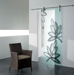 Sliding #door GHIBLI by CRISTAL | #design Marcello Gennari, Lorella Boiani #interiors #glass
