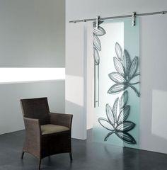 Sliding #door GHIBLI by CRISTAL | #design Marcello Gennari, Lorella Boiani #interiors #glass
