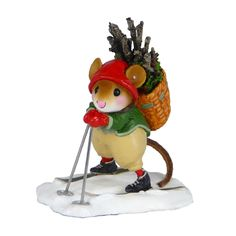 Wee Forest Folk Christmas mouse figurine