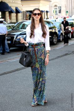 cool skirt, classic blouse
