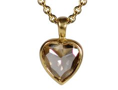 Me and Ro Me 18K Gold Champagne Diamond Heart Pendant