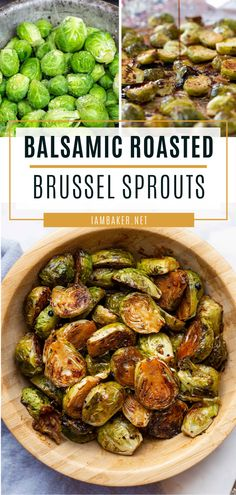 Balsamic Roasted Brussel Sprouts A fancy menu idea you can try this Easter! Balsamic Roasted Brussel Sprouts are easy and full of flavor. The balsamic goodness brings out the natural sweetness of this Side Dishes For Ham, Easter Side Dishes, Dinner Side Dishes, Dinner Sides, Healthy Side Dishes, Vegetable Side Dishes, Dinner Menu, Side Dish Recipes, Vegetable Recipes