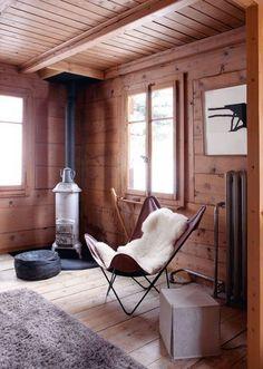 Un chalet au style scandinave -inspiration déco mobilier design scandinave