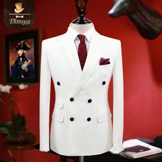 Aliexpress.com : Buy brand clothing slim fit men suits white tuxedo coat/pant/vest double breasted groom wedding suits for men formal boy prom suits  from Reliable groom wedding suit suppliers on QiekeStyle Store