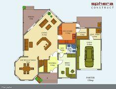 proiecte de casa cu scara interioara Interior staircase house plans 8