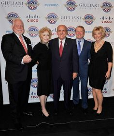 President of NLEAFCF Alfred R Kahn Actress Holland Taylor Mayor Rudolph Giuliani CEO of Cisco John T Chambers and Joan Lunden attend the 2013...