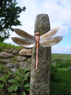 Dragonfly, 400mm long made of copper and stainless steel.    Thrussell and Thrussell collection.