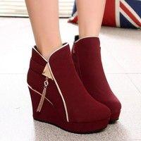 Wish | XIAOFENG Sexy Womens High Heel Ankle Boot Booties Stiletto Zipper Platform Wedge Footwear Shoes