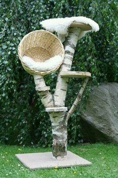 Cat Tree, + Scratching Post, + Cat Cave + Nature + Cat + from + Sustainability + … - Katzen Dog Training Methods, Basic Dog Training, Dog Training Techniques, Training Dogs, Cat Tree Designs, Outdoor Cats, Outdoor Decor, Cat Climber, Diy Cat Tree