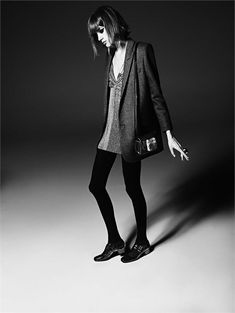 I could wear this everyday Saint Laurent: la campagna pubblicitaria autunno/inverno 2014-15