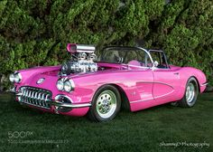 """58 Pink Corvette by shammyd"