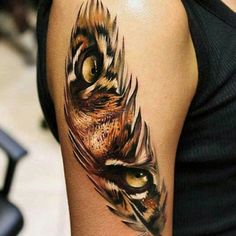 Feather Tattoo on Arm