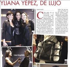 De lujo! | Beautiful post from El Carabobeno Venezuela | Thankful | #YYHandbags #YYPress #Francisca
