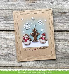 Lawn Fawn Intro: Tree Before 'n Afters, Crunchy Leaf Premium Ink and River Rock Premium Ink - Lawn Fawn Silver Christmas Decorations, Christmas Wreaths, Christmas Cards, Christmas 2019, Holiday Cards, Christmas Ideas, Winter Karten, Lawn Fawn Blog, Lawn Fawn Stamps