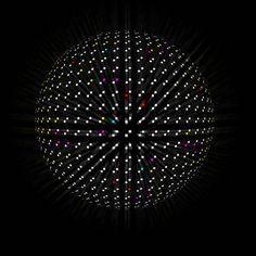 Photoshop 利用彩色煙霧,繪製彩色點點,馬賽克發光球