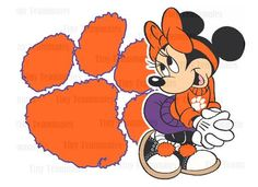 Minnie Loves the Clemson Tigers - DIY PRINTABLES - New Design - Perfect for Iron on or Framed Print - Any team available upon request on Etsy, $5.00