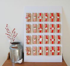 20 Creative DIY Advent Calendars | http://helloglow.co/20-creative-diy-advent-calendars/