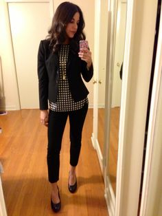 A subtle pattern works for an interview or first day on the job.
