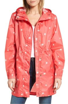 Joules Right as Rain Packable Print Hooded Raincoat Baby Raincoat, Yellow Raincoat, Hooded Raincoat, Hooded Jacket, Raincoats For Women, Sweater Jacket, Rain Jacket, Winter Coats Women, Sewing Rooms