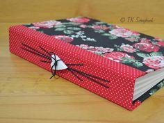 Caderno com encadernação artística em tecido