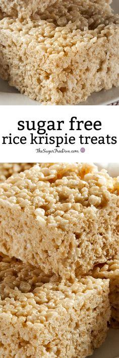 How to Make Sugar Free Rice Krispie Treats #sugarfree #ricekrispietreats #recipe #snack #dessert