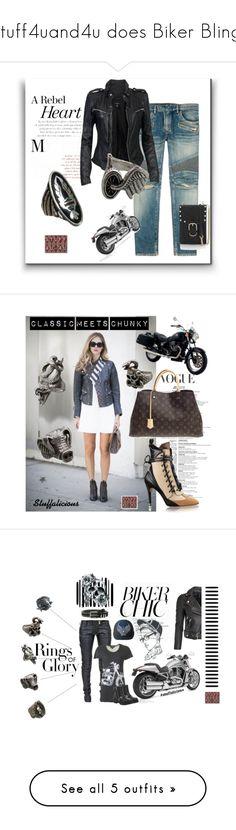"""Stuff4uand4u does Biker Bling!"" by stuff4uand4u ❤ liked on Polyvore featuring Balmain, MuuBaa, Harley-Davidson, Rebecca Minkoff, stuff4uan4u, Blonde Ambition, Louis Vuitton, vintage, stuff4uand4u and stuffalicious"