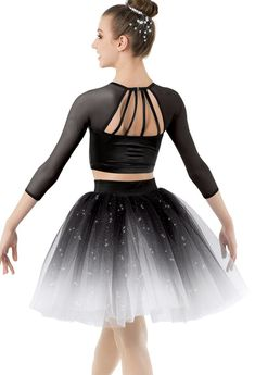 Weissman® | Crop Top and Ombré Degas Tutu #danceoutfits
