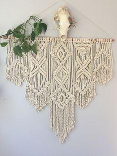 Beautiful Large Geometric Macrame Wall Hanging / Large Boho Macrame Wall Hanging / Over Bed Bohemian Wall Hanging