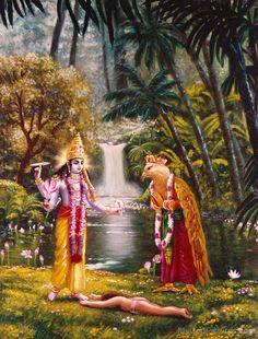 Those who worship me with complete devotion, i give myself to them - Sri Krishna Krishna Lila, Radha Krishna Photo, Shree Krishna, Radhe Krishna, Hanuman, Krishna Birth, Lord Krishna Images, Krishna Pictures, Krishna Avatar