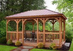 Gazebo - For details and additional information on purchasing a #gazebo through Valley City Supply, please contact us at 330-483-3400 or visit our website at ValleyCitySupply.com #woodgazebo #outdoorstructure #berlingardens