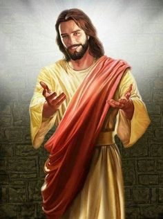 Jesus smiling with hands extended to you.