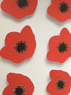 Image of Poppies - sq. Something Beautiful, Framed Artwork, Poppies, Art Ideas, Arts And Crafts, Classic, Floral, Red, Handmade