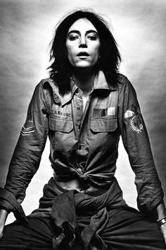"""THE WISDOM OF #PATTISMITH Writer, poet, artist, musician, and all-around muse Patti Smith celebrates her 67th birthday today. Smith's legacy can be substantiated in any one of her vast accomplishments: in her 11 studio albums, rom 1975's Horses to last year's Banga; her induction to the Rock&Roll Hall of Fame; or in her much-celebrated memoir, Just Kids. She is the poster child for individuality and for defying the norm. In her own words: """"Often contradiction is the clearest way to truth."""""""